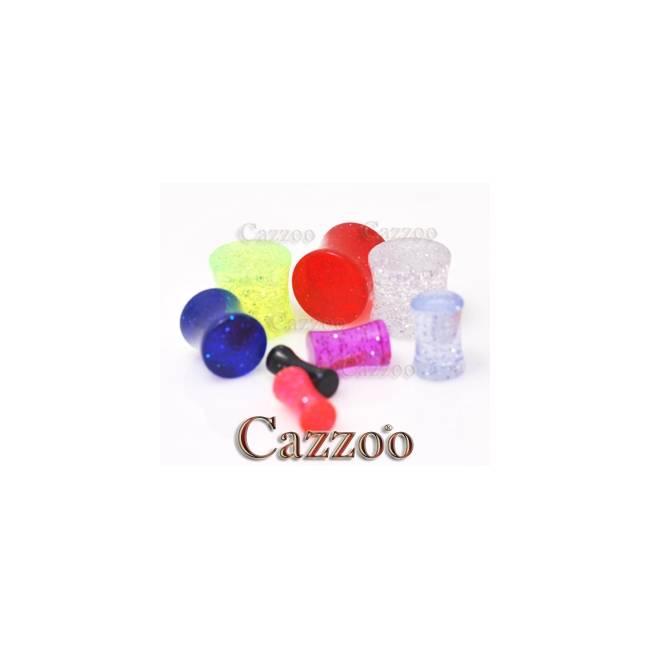 PL173 Glitter acrylic saddle plug