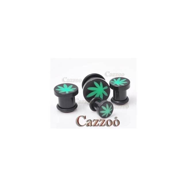 PL177 Sort hash blad acrylic plugs