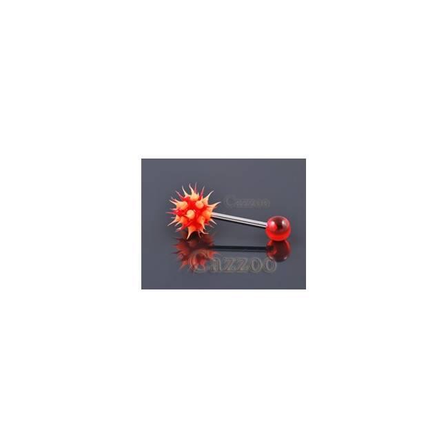 TP168 Tungepiercing med silikone ticklerl