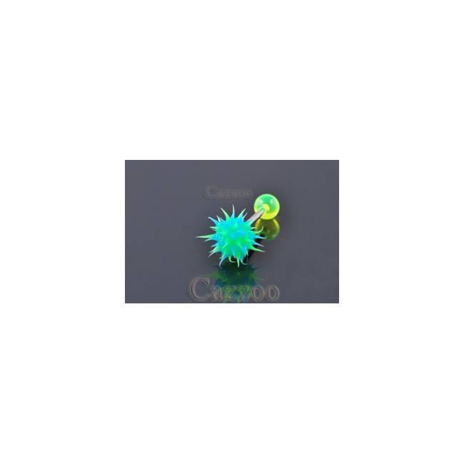 TP175 Tungepiercing med silikone ticklerl