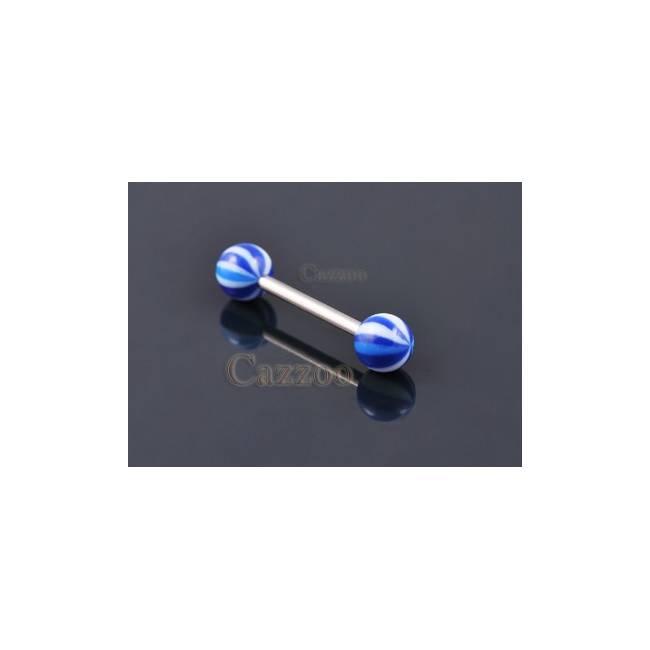 TP201 Tunge Piercing med acryl kugler