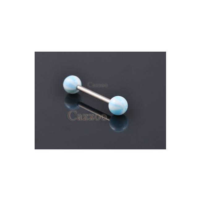 TP205 Tunge Piercing med acryl kugler