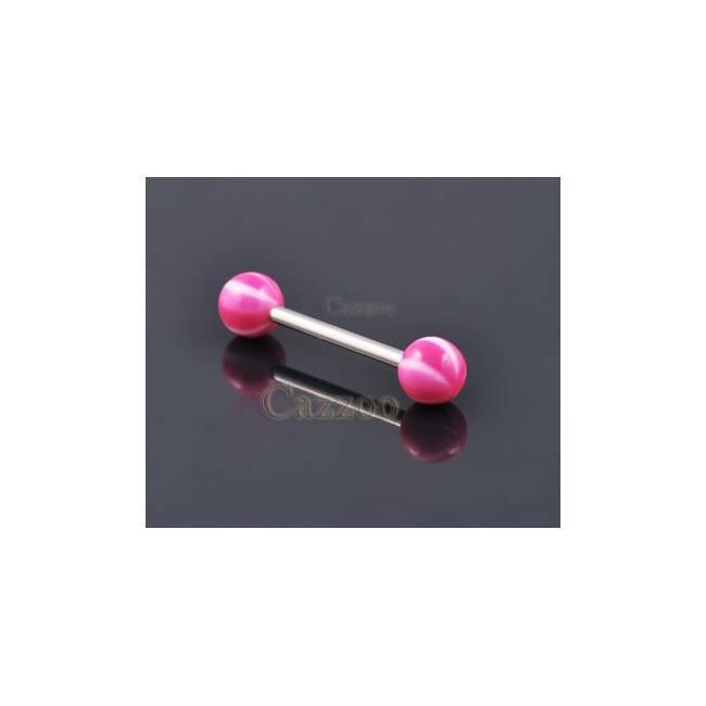 TP207 Tunge Piercing med acryl kugler