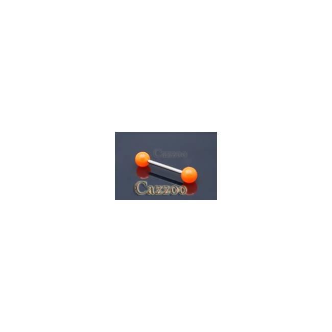 TP209 Tunge piercing smykker med acryl kugler