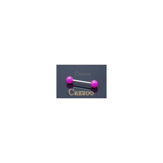 TP211 tungepiercing med acryl kugler