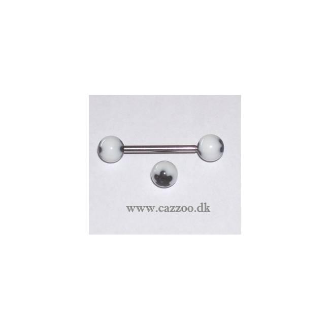 TP1037 tunge piercing med acryl kugler