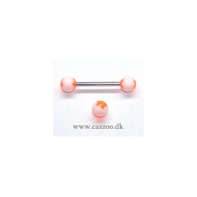 TP1038 tunge piercing med acryl kugler