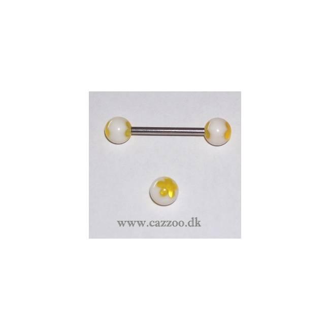 TP1041 tunge piercing med acryl kugler
