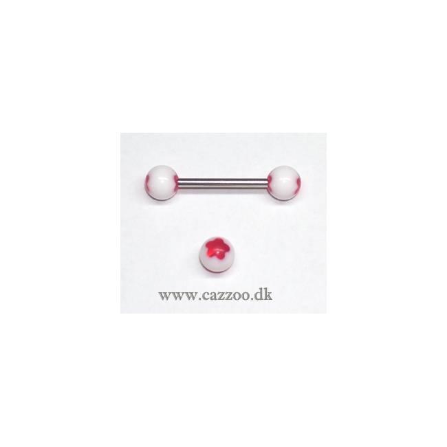 TP1042 tunge piercing med acryl kugler
