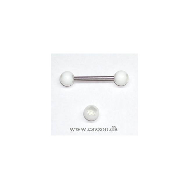 TP1044 tunge piercing med acryl kugler