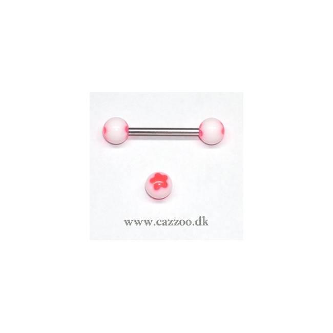 TP1045 tunge piercing med acryl kugler