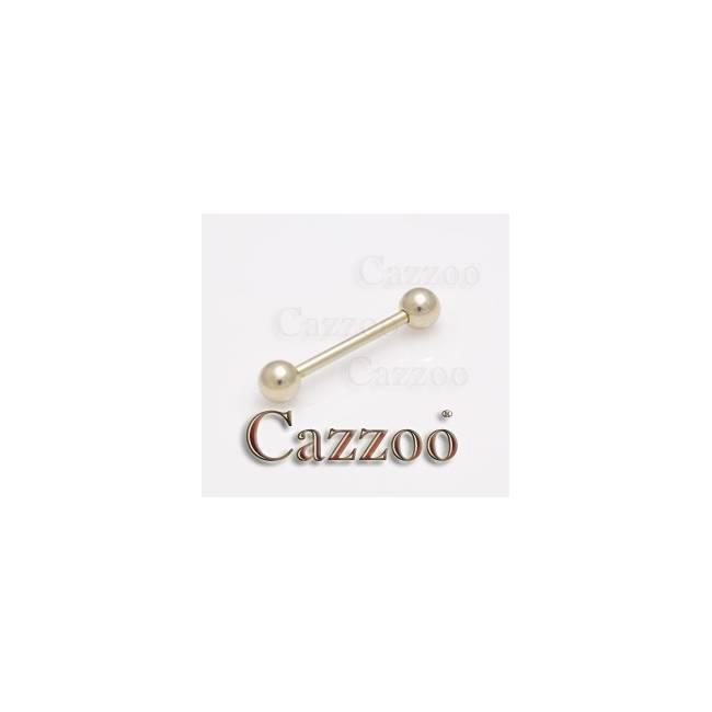 ZP10 Zircon guld tungepiercing 12mm