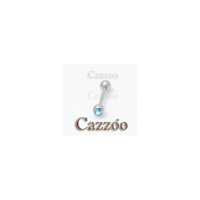 ZP20 Zircon guld tungepiercing 14mm