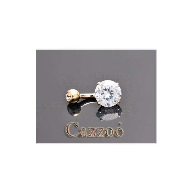 GP24 6mm 14kt guld navle piercing