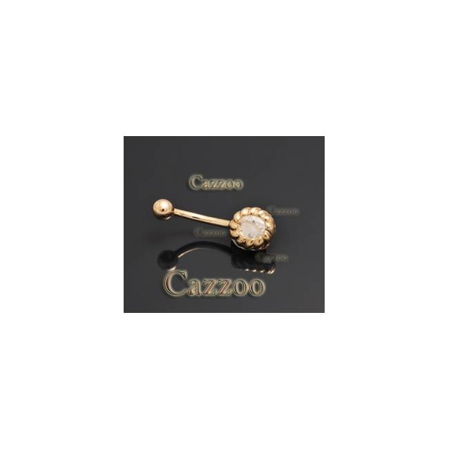 GP29 10mm 14kt guld navle piercing