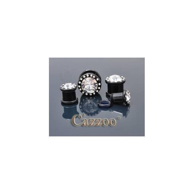 PL55 Acrylic plug med sten