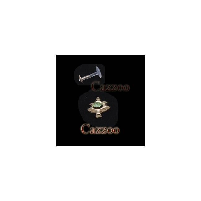 LAB12 Bioflex 14kt Guld Labret piercing med CZ