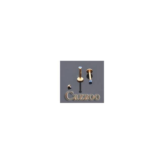 LAB40 Anodized guld farve internal Labret piercing