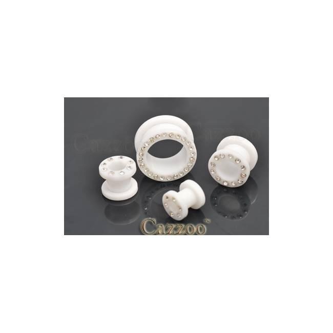 PL65 Acrylic plug med sten