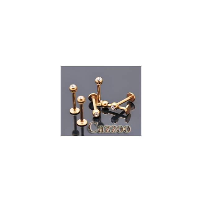 LAB43 Anodized guld farve Labret piercing