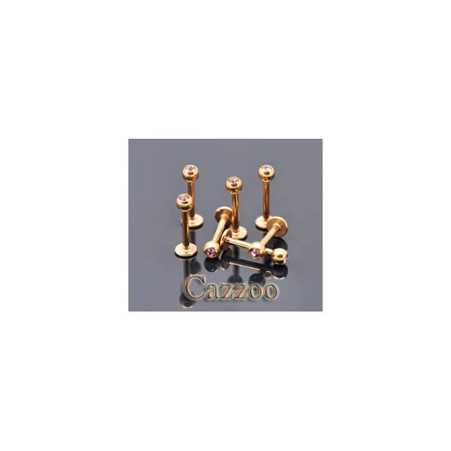 LAB44 Anodized guld farve Labret piercing