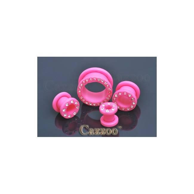 PL66 Acrylic plug med sten