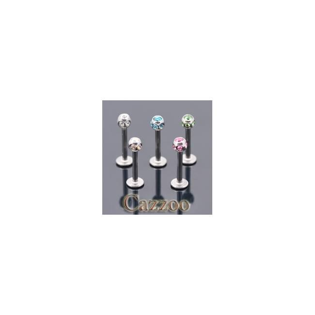 LAB54 Labret piercing med multisten
