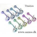 TIT-NP-1001 Titanium Navle piercing TIT-NP-1001 Titanium Navle piercing Titanium Piercing smykker alt i Titanium Piercing