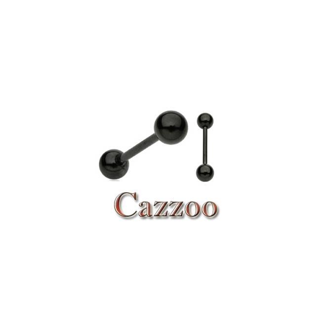 TPT10 Blackout piercing barbell titanium
