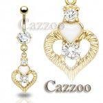 GPT27 14 karat forgyldt navle piercing GPT27 14 karat forgyldt navle piercing Alle piercinger her er fremstillet i 14 karat for