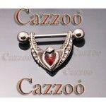 BP37 bryst piercing smykker