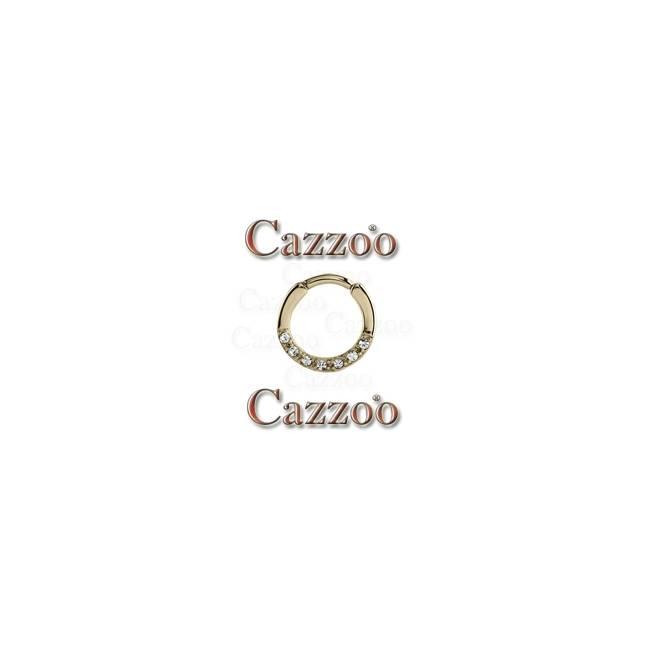 zirkon septum piercing med klar sten