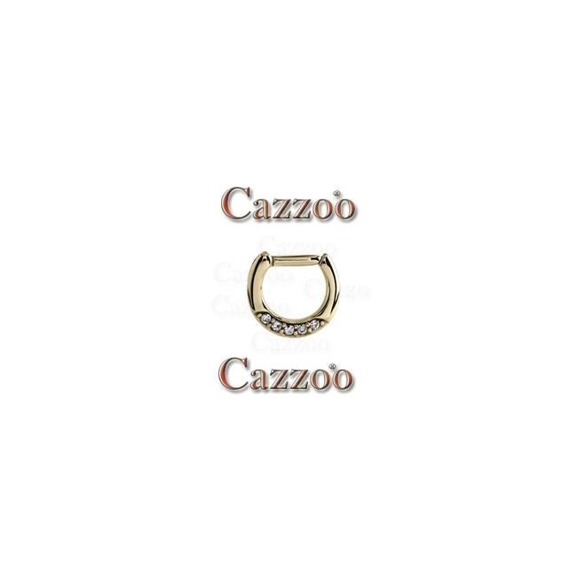 SEPT4 zirkon septum piercing med klar sten