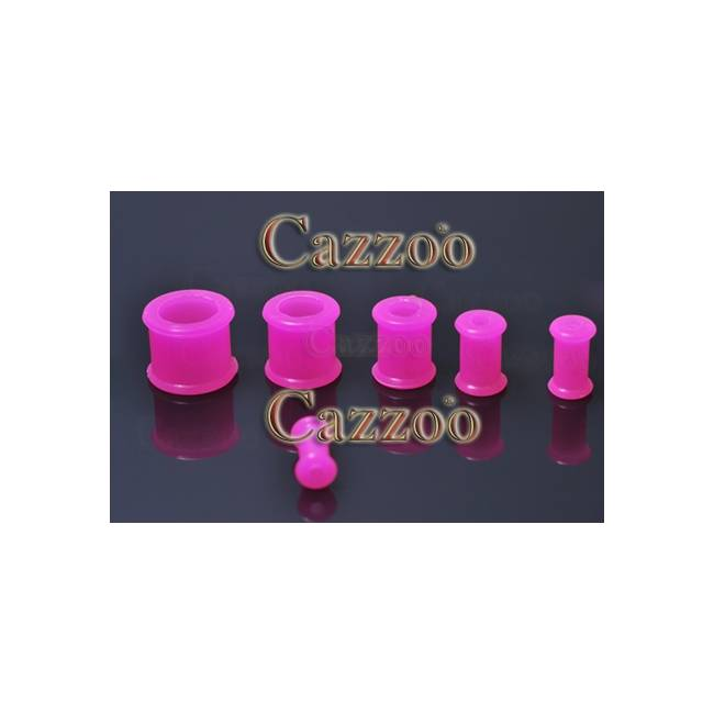 PL211 hot pink silikone Flexible Plug 4mm til 12mm