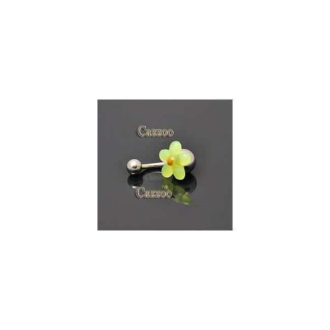 NP802 navlepiercing med sød blomst