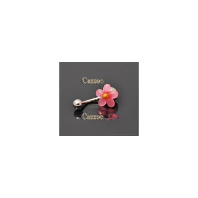 NP803 navlepiercing med sød blomst