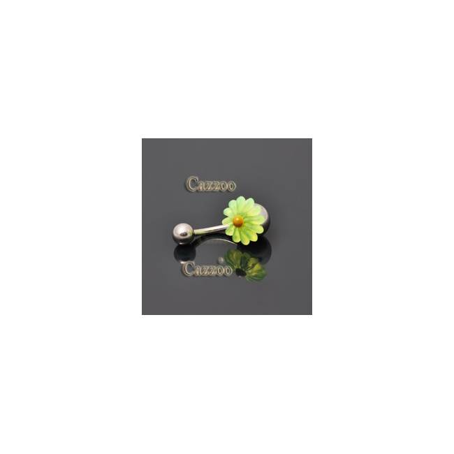 NP805 navlepiercing med sød blomst