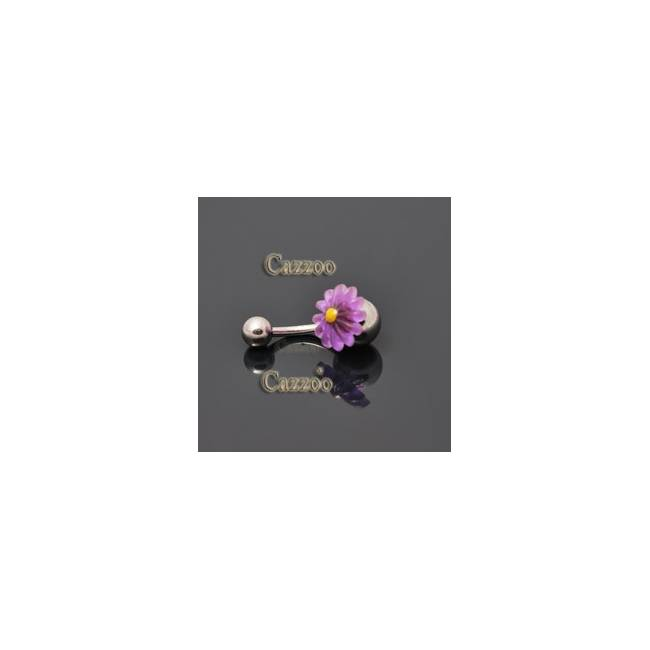 NP807 navlepiercing med sød blomst