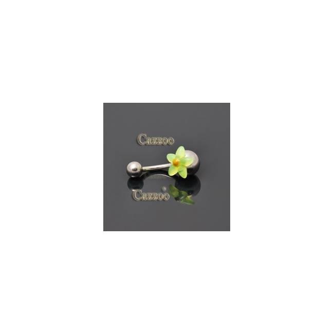 NP810 navlepiercing med sød blomst
