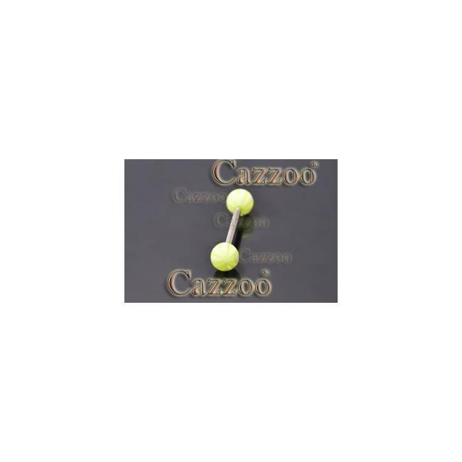 TP286 tungepiercing smykker med acryl kugler