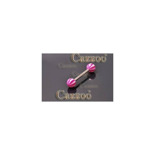 TP292 tungepiercing smykker med acryl kugler