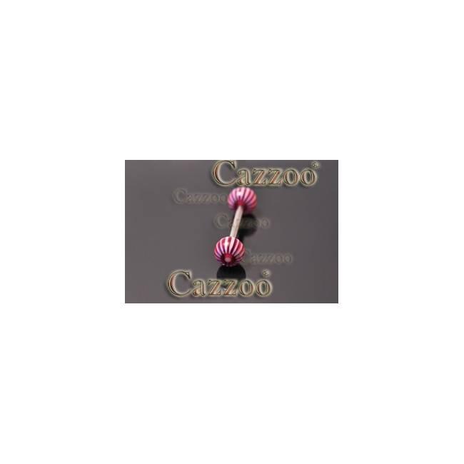 TP296 tungepiercing smykker med acryl kugler