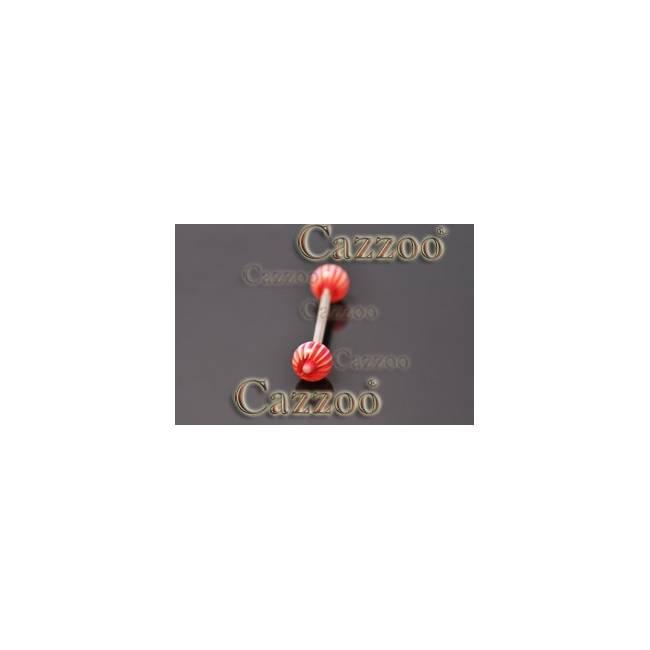 TP298 tungepiercing smykker med acryl kugler