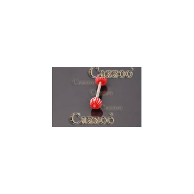 TP300 tungepiercing smykker med acryl kugler