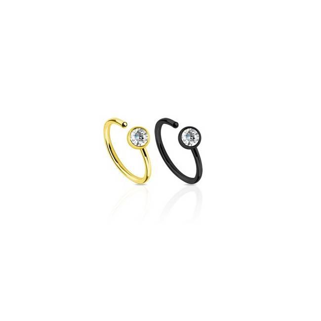 FP50 piercing ring med sten