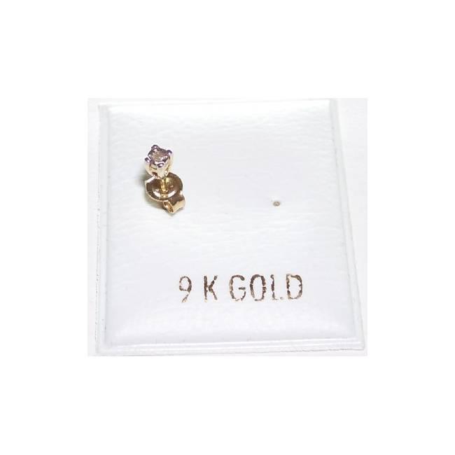 GEJ054-2 9kt Herre Guld ørestik med diamant