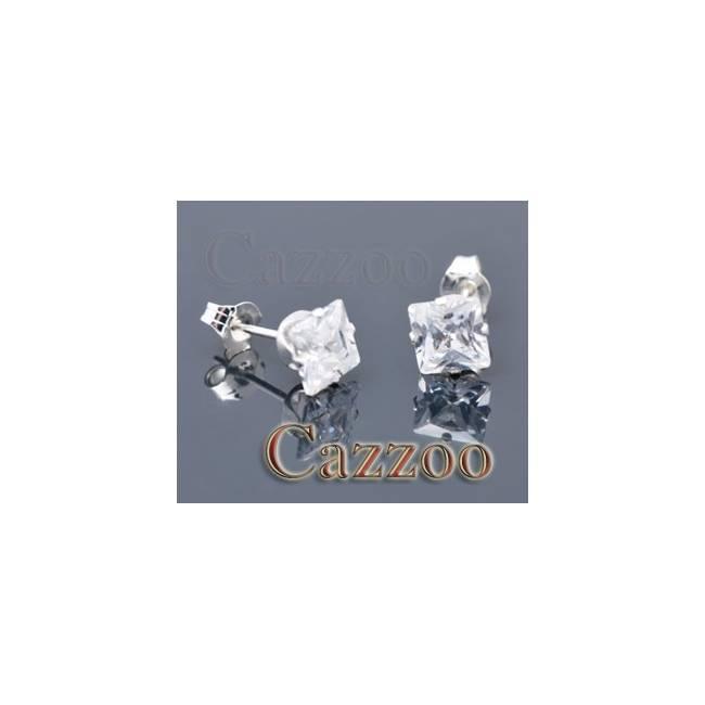 SE1-sq5mm ægte sterling sølv ørestikker
