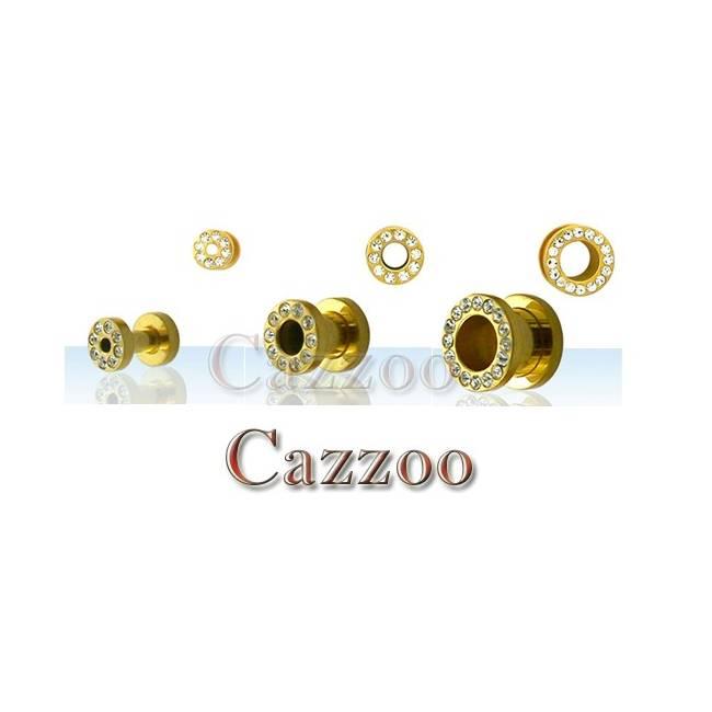 PL13 Guld farve anodized plug scew on til stretch 14mm til 20mm