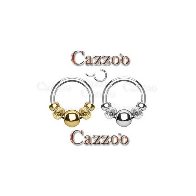kirurgisk stål clicker med aftagelige beads