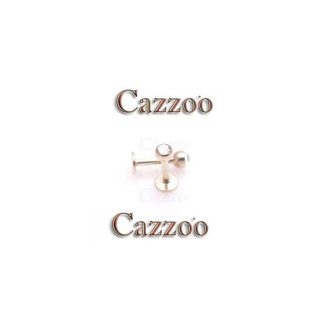ZP15 zirkon labret piercing smykker